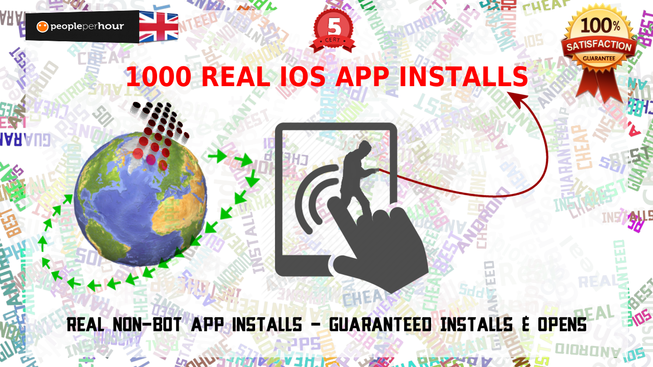 Boost your iOS iPhone app ranking by giving 1000 real installs and guaranteed opens