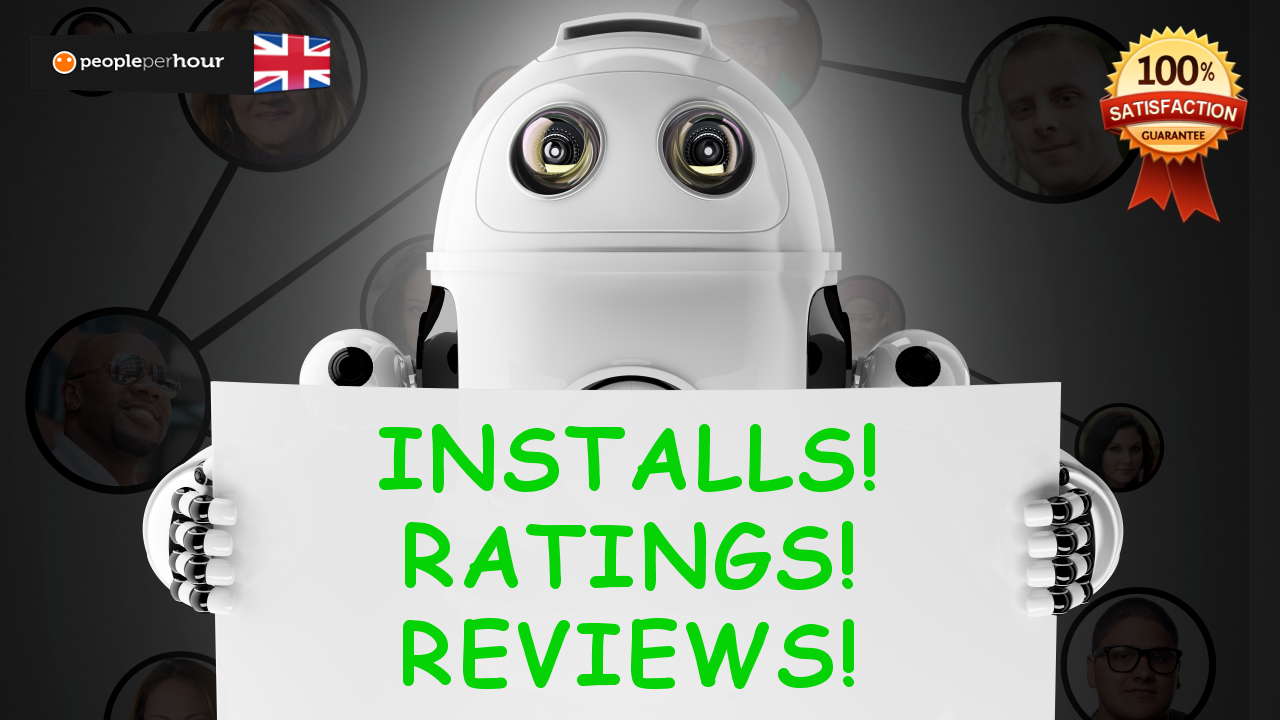 real android mobile installs, reviews and ratings