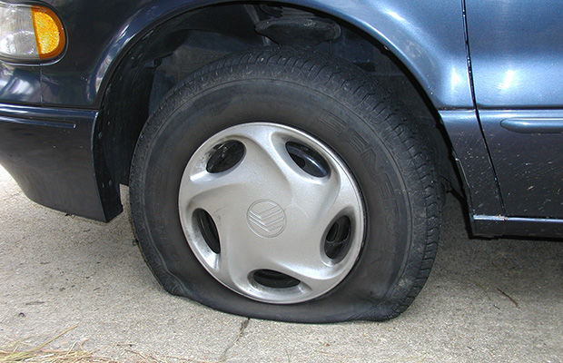 CAR FLAT TYRE