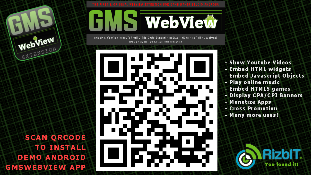 Asset - Extension - GMSWebView Game Maker Studio