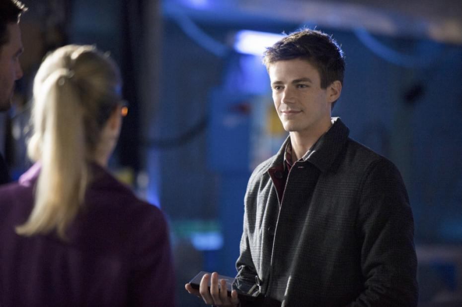 Felicity Smoak and Barry Allen in The Arrow