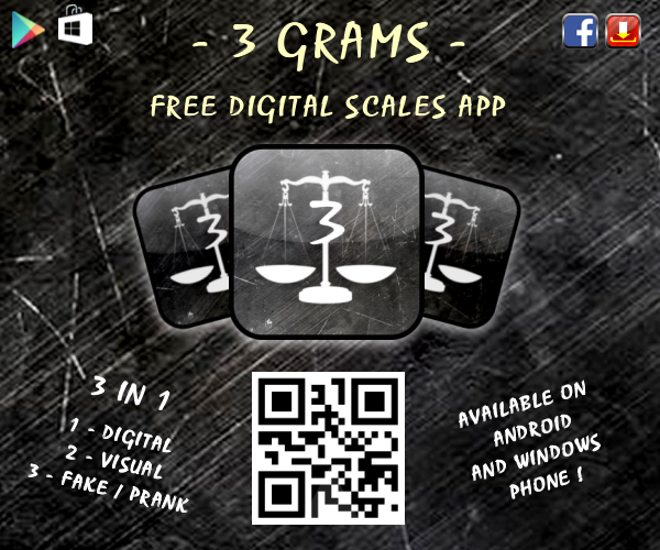 Apps and Games - 3 Grams Digital Scales App