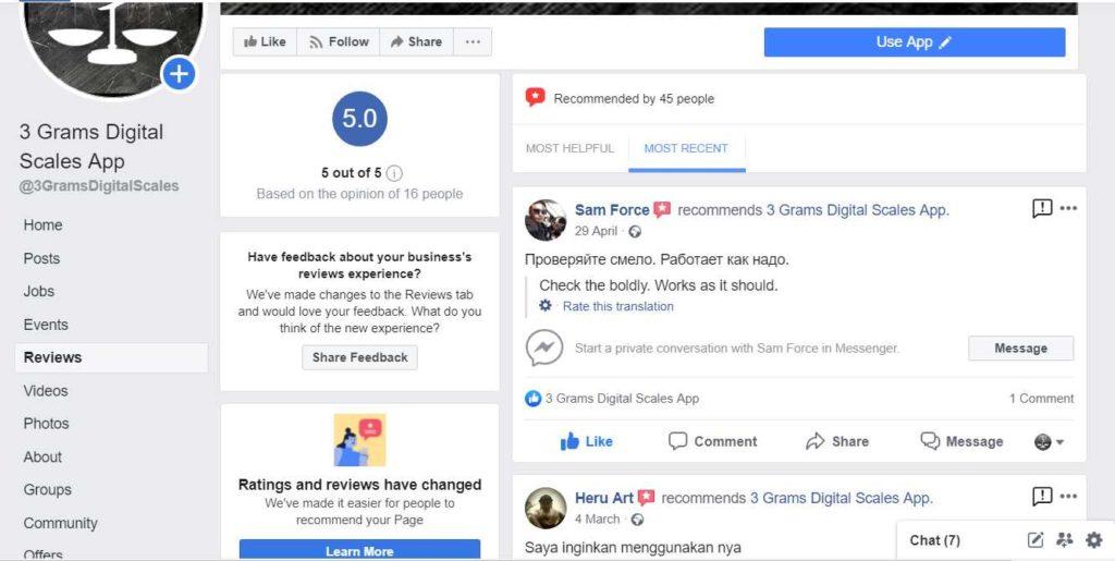 3 grams facebook reviews