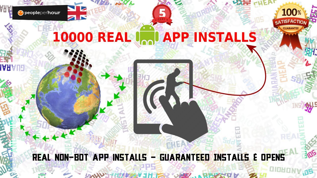 10K Real Android App Installs