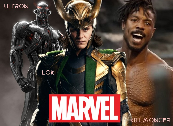 MARVEL VILLAINS KILLMONGER LOKI