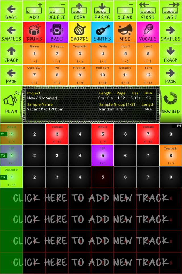 BeatDrops User Interface