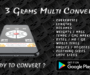 3 grams free multi unit converter mobile app