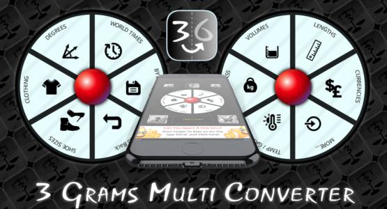 3 Grams Multi Converter Pro App
