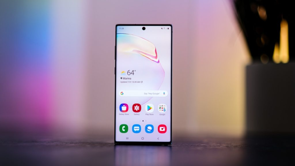 Samsung Galaxy Note 10 and 10 Plus phones