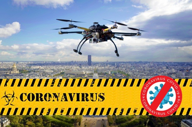 drones and robots against corona virus