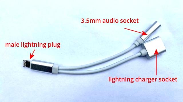 iphone lightning headphone audio spllitter adapter